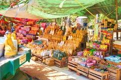 La boutique de souvenirs dans Bagan, Myanmar Photographie stock