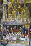 La boutique de souvenirs des limoncello d'Amalfi Photo stock