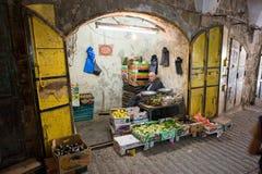 La boutique du marchand de légumes dans Hebron Image stock