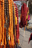 La boutique traditionnelle Bouddha perle le collier chez Shaolin Temple photographie stock