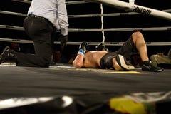 La boxe frappent à l'extérieur Photo stock