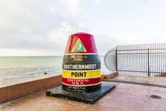 La boya más situada más al sur del punto, Key West, los E.E.U.U. Imágenes de archivo libres de regalías