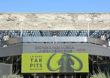 The La Brea Tar Pits George C Page Museum. LOS ANGELES - MARCH 28, 2018: George C Page Museum at the La Brea Tar Pits. Situated within what was once the Mexican Royalty Free Stock Photo