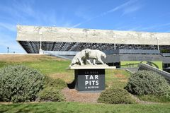 La Brea Tar Pits George Page Museum. LOS ANGELES - NOVEMBER 24, 2017: George C Page Museum at the La Brea Tar Pits. Situated within what was once the Mexican Royalty Free Stock Photo