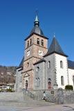 La Bresse -kerk Royalty-vrije Stock Foto