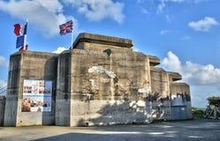 La Bretagne, Le Grand Blockhaus dans le sur Mer de Batz Image stock