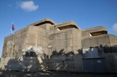 La Bretagne, Le Grand Blockhaus dans le sur Mer de Batz Photographie stock libre de droits
