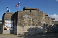 La Bretagne, Le Grand Blockhaus dans le sur Mer de Batz Images libres de droits