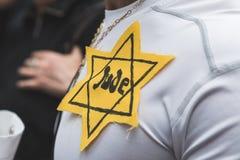 La brigade juive participent au défilé de jour de libération Images libres de droits