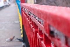 la brina sopra recinta l'inverno Fotografia Stock Libera da Diritti
