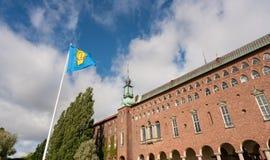La brique a construit l'hôtel de ville à Stockholm Suède photographie stock