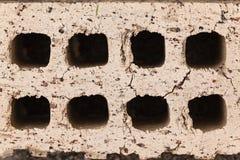 La brique d'argile troue le groupe Photo stock