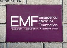 La brique d'EMF, plaza d'EMF, ACEP national siège, Dallas, le Texas images libres de droits