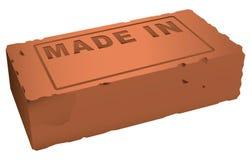La brique est faite dedans Photo libre de droits