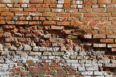 La brique sale antique wal Photo libre de droits