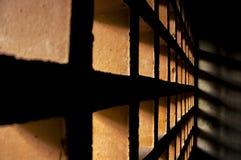La brique troue le mur Images libres de droits