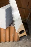 La brique a vu Photographie stock libre de droits