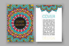 La brochure de Ramadan pagine l'illustration de vecteur d'ornement rétro carte décorative pour la copie ou le web design Photos stock