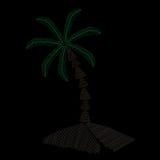 La broderie de palmier pique l'imitation sur le fond noir Photo libre de droits