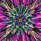 La brosse chaotique de couleur d'abrégé sur illustration d'ordinateur de mosaïque psychédélique symétrique de fond frotte des pin illustration libre de droits