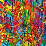 La brosse d'éclaboussure de couleur d'arc-en-ciel d'art frotte le fond abstrait de vecteur de peinture Image stock