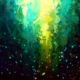 La brosse fantastique bleue et verte frotte le fond Photo libre de droits