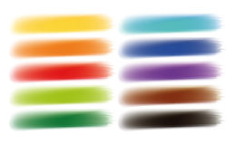 La brosse frotte la bannière d'options d'aquarelles Photo libre de droits