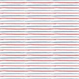 La brosse rouge, blanche, bleue tirée par la main abstraite chargent répéter le patte Images libres de droits