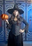 La bruja de Halloween Imagen de archivo