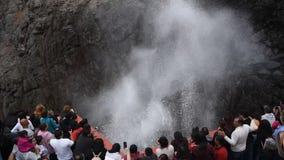 La Bufadora-Schlag-Loch in Ensenada stock video footage