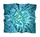 La bufanda de seda azul, pañuelo para las mujeres Fotografía de archivo libre de regalías