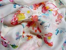 La bufanda de seda Textura de la seda Fotos de archivo libres de regalías