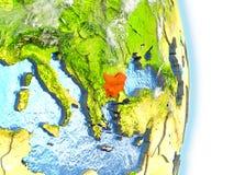 La Bulgarie en rouge sur terre illustration de vecteur