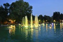 La Bulgarie, Plovdiv, fontaines de chant photos stock