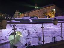 La Bulgarie, Plovdiv, scène du centre de nuit Photos libres de droits