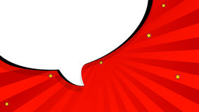 La bulle de causerie d'art de bruit en bandes dessinées réservent le style, calibre vide de disposition avec les points tramés, b Illustration Stock