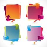 La bulle de la parole a placé avec des flèches Photographie stock