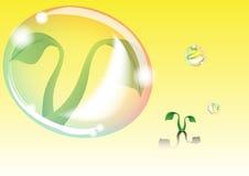 La bulle protègent l'usine illustration de vecteur