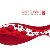 La bulle rouge et le vecteur d'art abstrait de vague conçoivent Photographie stock libre de droits
