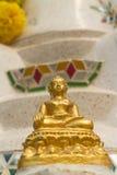 La buona statua antica di Buddha Fotografia Stock
