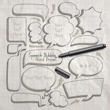 La burbuja del discurso garabatea la mano dibujada ilustración del vector