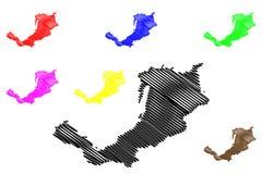 La Buriazia traccia il vettore Illustrazione Vettoriale