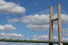 La Burlington Iowa, puente de H imagenes de archivo