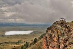 La butte d'ours est un parc d'état dans le Dakota du Sud occidental rural image libre de droits