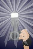 La cámara con el flash Imagen de archivo libre de regalías