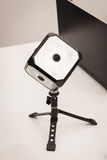 La cámara de Beyonder 360 en el robot y los fabricantes muestran Foto de archivo libre de regalías
