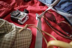 La cámara de la acción se cubre con salpica de gotitas de agua Imagen de archivo libre de regalías