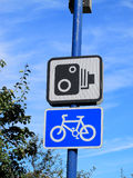 La cámara de la velocidad aconseja la muestra Imágenes de archivo libres de regalías