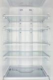 La cámara del congelador abierta vacia imágenes de archivo libres de regalías
