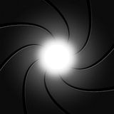 La cámara fotográfica representa espiral y gris del obturador Imágenes de archivo libres de regalías